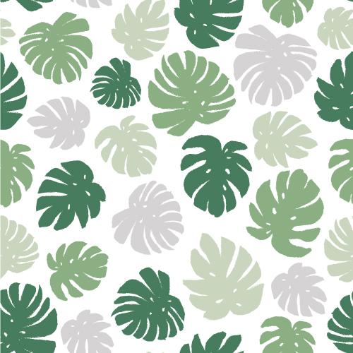 Pattern Design mit Monstera Blättern. Greenery Trend. | www.juliakleindesigns.de | Surface Pattern Design und Illustration