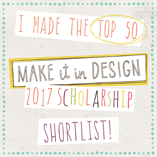 I made the top 50 in the MAKE IT IN DESIGN 2017 Scholarship Shortlist! | www.juliakleindesigns.de | Surface Pattern Design & Illustration